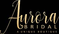 Aurora Bridal on black logo