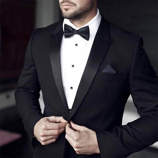 Man in black tuxedo image